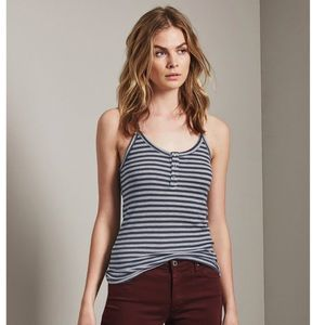 NEW AG The Roma striped Ribbed tank Top